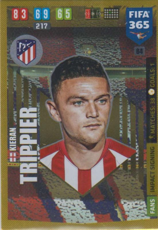 Adrenalyn XL FIFA 365 2020 - 084 Kieran Trippier  - Club Atlético de Madrid - Impact Signing