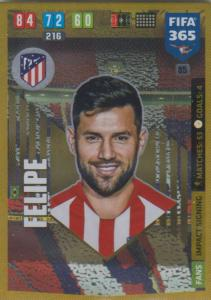 Adrenalyn XL FIFA 365 2020 - 085 Felipe  - Club Atlético de Madrid - Impact Signing