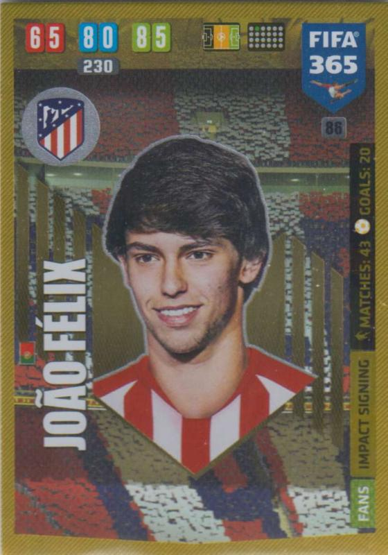 Adrenalyn XL FIFA 365 2020 - 086 João Félix  - Club Atlético de Madrid - Impact Signing