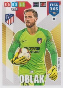 Adrenalyn XL FIFA 365 2020 - 088 Jan Oblak  - Club Atlético de Madrid - Team Mate
