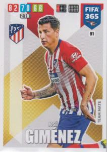 Adrenalyn XL FIFA 365 2020 - 091 José Giménez  - Club Atlético de Madrid - Team Mate