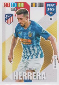 Adrenalyn XL FIFA 365 2020 - 092 Hector Herrera  - Club Atlético de Madrid - Team Mate