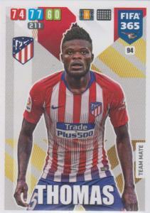 Adrenalyn XL FIFA 365 2020 - 094 Thomas  - Club Atlético de Madrid - Team Mate