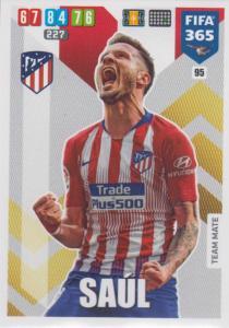 Adrenalyn XL FIFA 365 2020 - 095 Saúl  - Club Atlético de Madrid - Team Mate