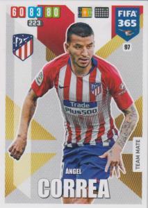 Adrenalyn XL FIFA 365 2020 - 097 Ángel Correa  - Club Atlético de Madrid - Team Mate