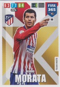 Adrenalyn XL FIFA 365 2020 - 098 Álvaro Morata  - Club Atlético de Madrid - Team Mate