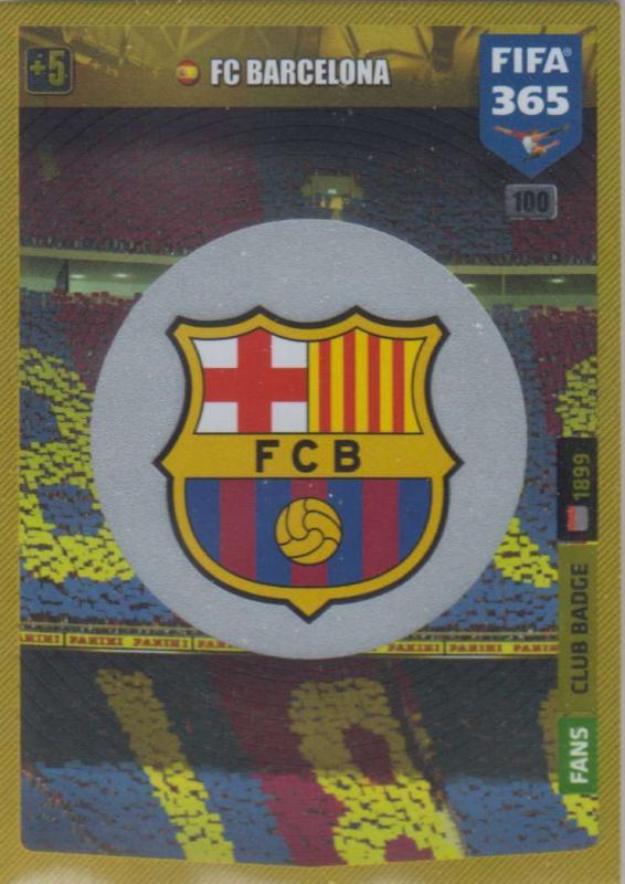 Adrenalyn XL FIFA 365 2020 - 100 Club Badge  - FC Barcelona - Club Badge