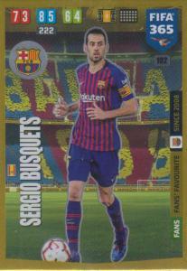 Adrenalyn XL FIFA 365 2020 - 102 Sergio Busquets  - FC Barcelona - Fans' Favourite