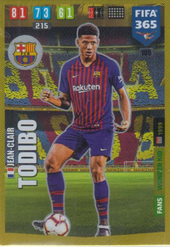 Adrenalyn XL FIFA 365 2020 - 105 Jean-Clair Todibo  - FC Barcelona - Wonder Kid