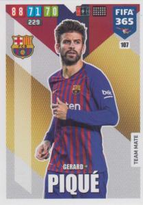 Adrenalyn XL FIFA 365 2020 - 107 Gerard Piqué  - FC Barcelona - Team Mate