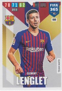 Adrenalyn XL FIFA 365 2020 - 108 Clement Lenglet  - FC Barcelona - Team Mate