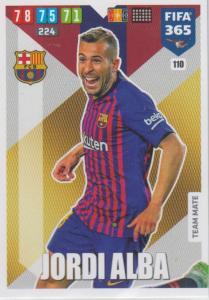 Adrenalyn XL FIFA 365 2020 - 110 Jordi Alba  - FC Barcelona - Team Mate