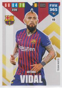 Adrenalyn XL FIFA 365 2020 - 113 Arturo Vidal  - FC Barcelona - Team Mate