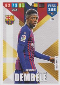 Adrenalyn XL FIFA 365 2020 - 115 Ousmane Dembélé - FC Barcelona - Team Mate