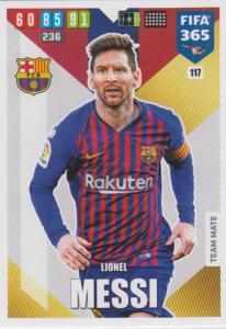 Adrenalyn XL FIFA 365 2020 - 117 Lionel Messi  - FC Barcelona - Team Mate