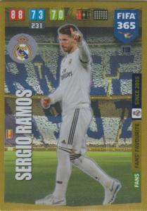 Adrenalyn XL FIFA 365 2020 - 119 Sergo Ramos  - Real Madrid CF - Fans' Favourite