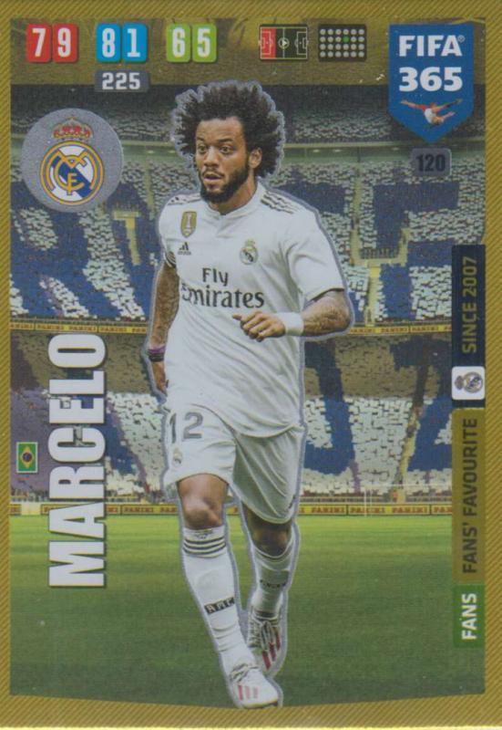 Adrenalyn XL FIFA 365 2020 - 120 Marcelo  - Real Madrid CF - Fans' Favourite