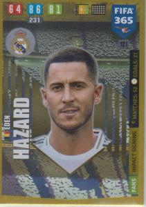 Adrenalyn XL FIFA 365 2020 - 121 Eden Hazard  - Real Madrid CF - Impact Signing