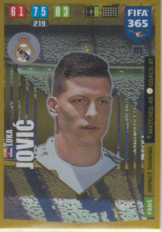 Adrenalyn XL FIFA 365 2020 - 122 Luka Jović  - Real Madrid CF - Impact Signing