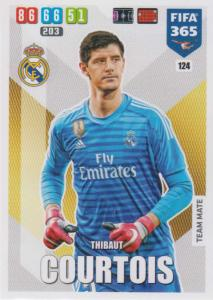 Adrenalyn XL FIFA 365 2020 - 124 Thibout Courtois  - Real Madrid CF - Team Mate