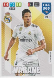 Adrenalyn XL FIFA 365 2020 - 125 Raphaël Varane  - Real Madrid CF - Team Mate