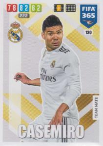 Adrenalyn XL FIFA 365 2020 - 130 Casemiro  - Real Madrid CF - Team Mate