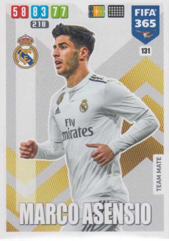Adrenalyn XL FIFA 365 2020 - 131 Marco Asensio  - Real Madrid CF - Team Mate
