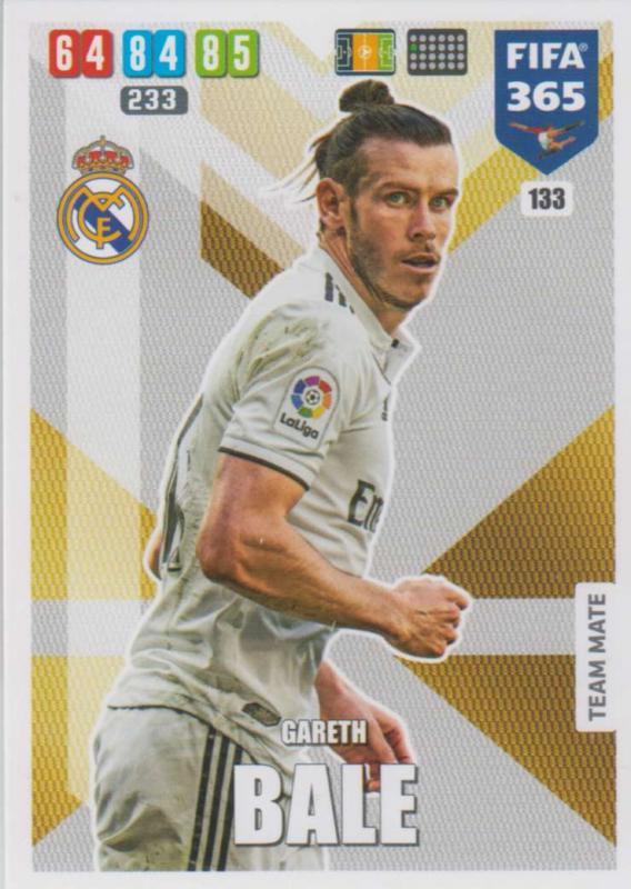 Adrenalyn XL FIFA 365 2020 - 133 Gareth Bale  - Real Madrid CF - Team Mate