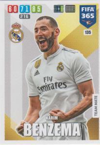 Adrenalyn XL FIFA 365 2020 - 135 Karim Benzema  - Real Madrid CF - Team Mate