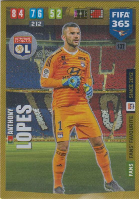 Adrenalyn XL FIFA 365 2020 - 137 Anthony Lopes  - Olympique Lyonnais - Fans' Favourite
