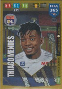 Adrenalyn XL FIFA 365 2020 - 140 Thiago Mendes  - Olympique Lyonnais - Impact Signing