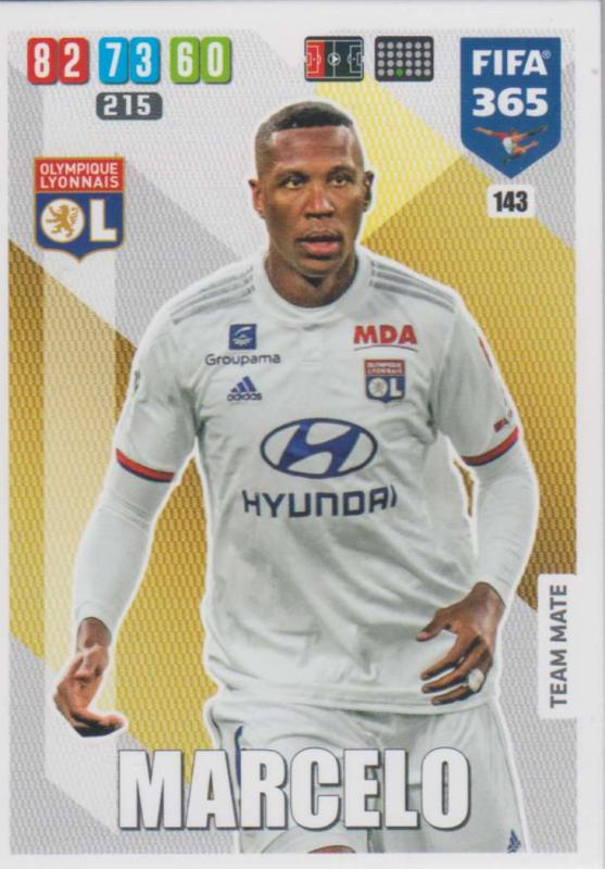 Adrenalyn XL FIFA 365 2020 - 143 Marcelo  - Olympique Lyonnais - Team Mate