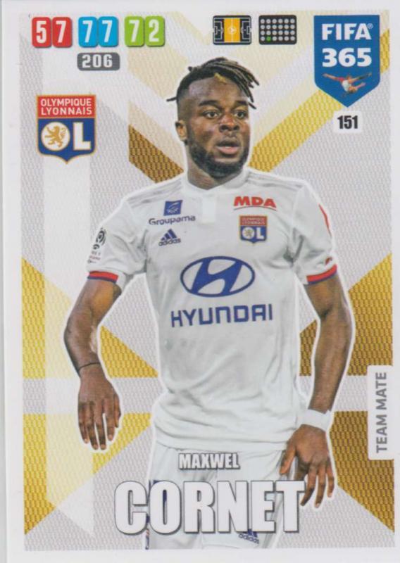 Adrenalyn XL FIFA 365 2020 - 151 Maxwel Cornet  - Olympique Lyonnais - Team Mate