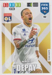Adrenalyn XL FIFA 365 2020 - 152 Menphis Depay  - Olympique Lyonnais - Team Mate