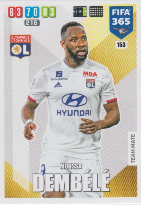 Adrenalyn XL FIFA 365 2020 - 153 Moussa Dembélé  - Olympique Lyonnais - Team Mate