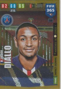 Adrenalyn XL FIFA 365 2020 - 156 Abdou Diallo  - Paris Saint-Germain - Impact Signing