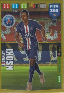 Adrenalyn XL FIFA 365 2020 - 159 Stanley Nsoki  - Paris Saint-Germain - Wonder Kid