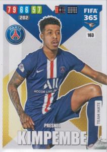 Adrenalyn XL FIFA 365 2020 - 163 Presnel Kimpembe  - Paris Saint-Germain - Team Mate