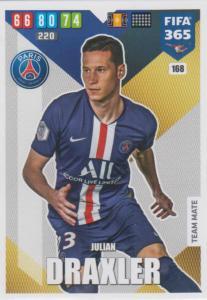 Adrenalyn XL FIFA 365 2020 - 168 Julian Draxler  - Paris Saint-Germain - Team Mate