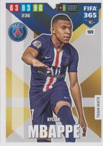 Adrenalyn XL FIFA 365 2020 - 169 Kevin Mbappé  - Paris Saint-Germain - Team Mate