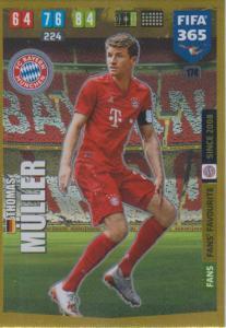 Adrenalyn XL FIFA 365 2020 - 174 Thomas Müller  - FC Bayern München - Fans' Favourite