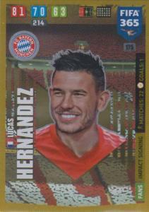 Adrenalyn XL FIFA 365 2020 - 175 Lucas Hernandez  - FC Bayern München - Impact Signing