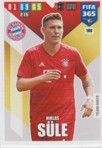 Adrenalyn XL FIFA 365 2020 - 180 Niklas Süle  - FC Bayern München - Team Mate
