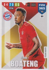 Adrenalyn XL FIFA 365 2020 - 181 Jérôme Boateng  - FC Bayern München - Team Mate