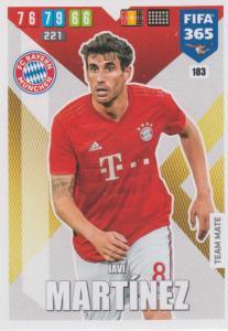 Adrenalyn XL FIFA 365 2020 - 183 Javi Martínez  - FC Bayern München - Team Mate