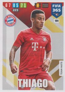 Adrenalyn XL FIFA 365 2020 - 184 Thiago  - FC Bayern München - Team Mate