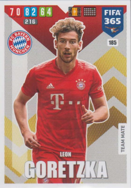 Adrenalyn XL FIFA 365 2020 - 185 Leon Goretzka  - FC Bayern München - Team Mate