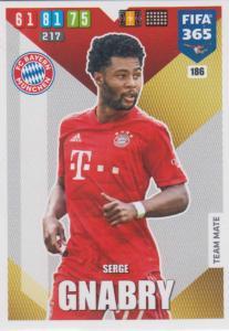 Adrenalyn XL FIFA 365 2020 - 186 Serge Gnabry  - FC Bayern München - Team Mate