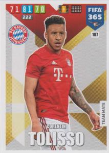 Adrenalyn XL FIFA 365 2020 - 187 Corentin Tolisso  - FC Bayern München - Team Mate