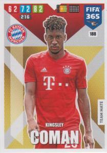 Adrenalyn XL FIFA 365 2020 - 188 Kingsley Coman  - FC Bayern München - Team Mate